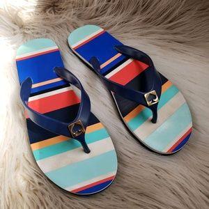 Kate Spade Multi Color Flip Flops Sz 7